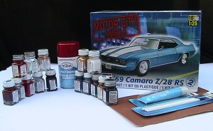 photo of model car kit