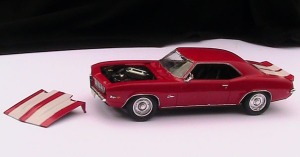 photo of red model car